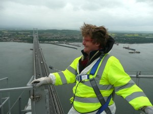 On top of tHe Forth Road Bridge